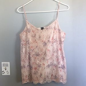 Silk and lace tank
